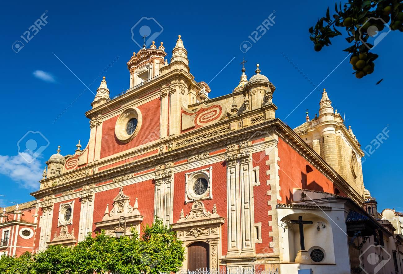 iglesia colegial del divino salvador a baroque style church stock