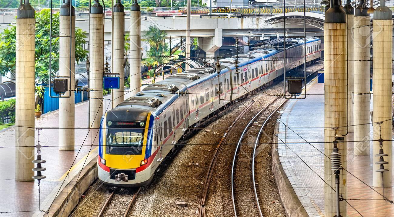 Commuter train at Kuala Lumpur station, Malaysia - 72629462
