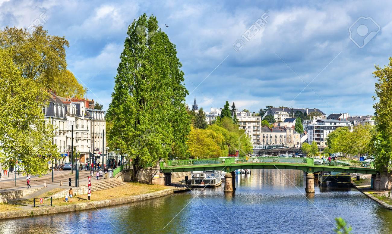 The Erdre River in Nantes, France - 78391256