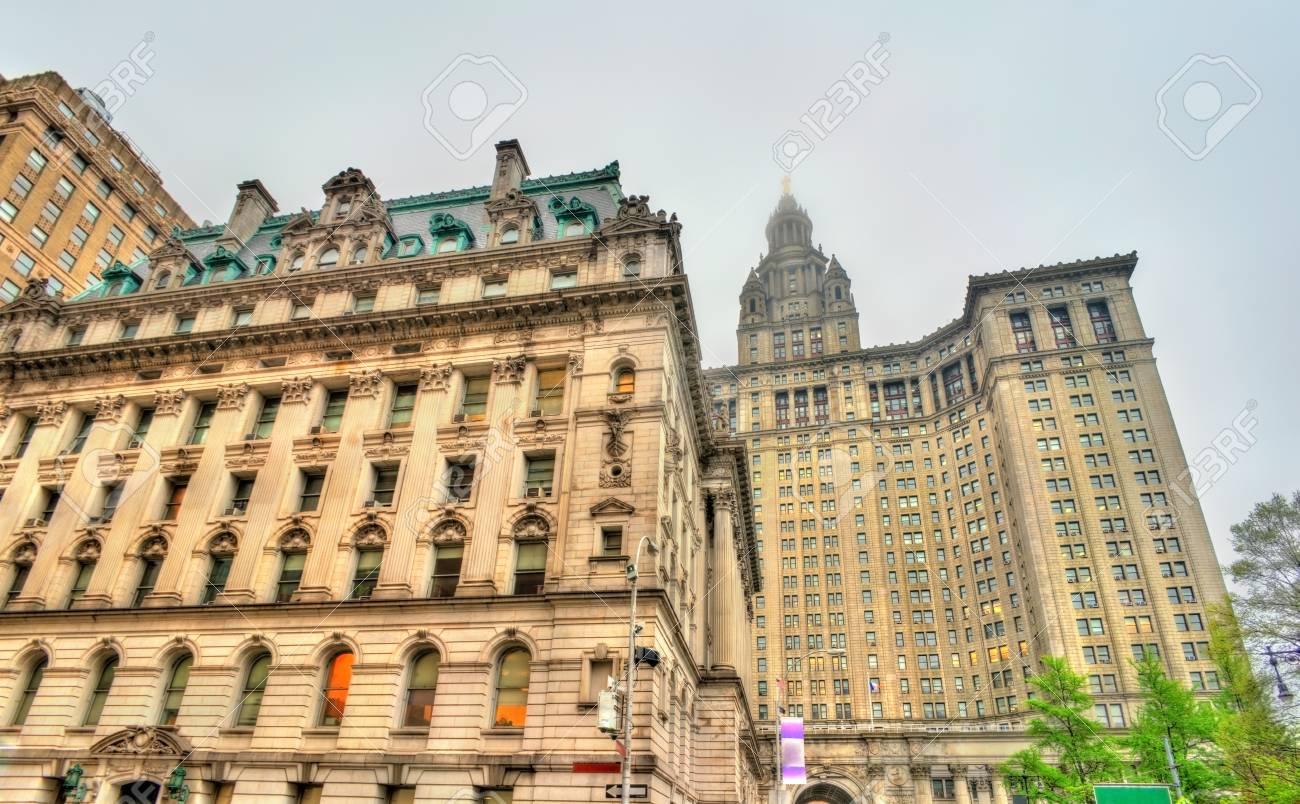 サロゲート庁舎とアメリカ、ニューヨーク市のマンハッタン市建物