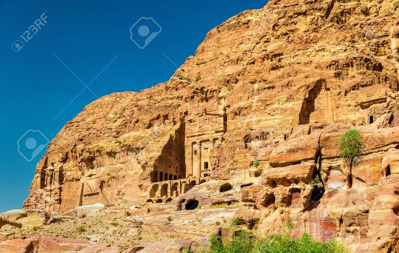 Stock Photo - The Royal Tombs at Petra 551fad811
