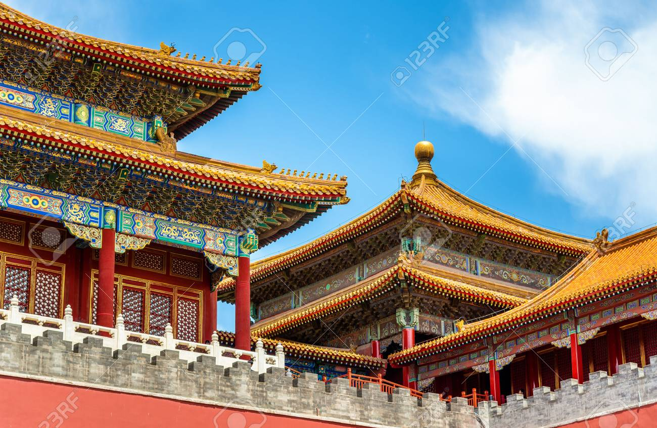 Meridian Gate of the Palace Museum or Forbidden City in Beijing, China - 84936313