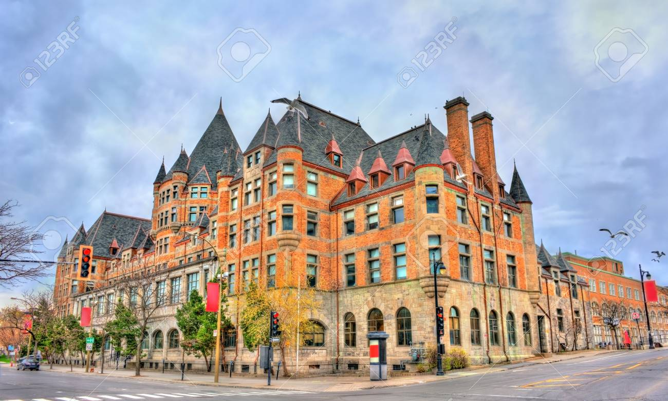 Place Viger, a historic hotel and train station in Montreal - Quebec, Canada. Built in 1898 - 84980839