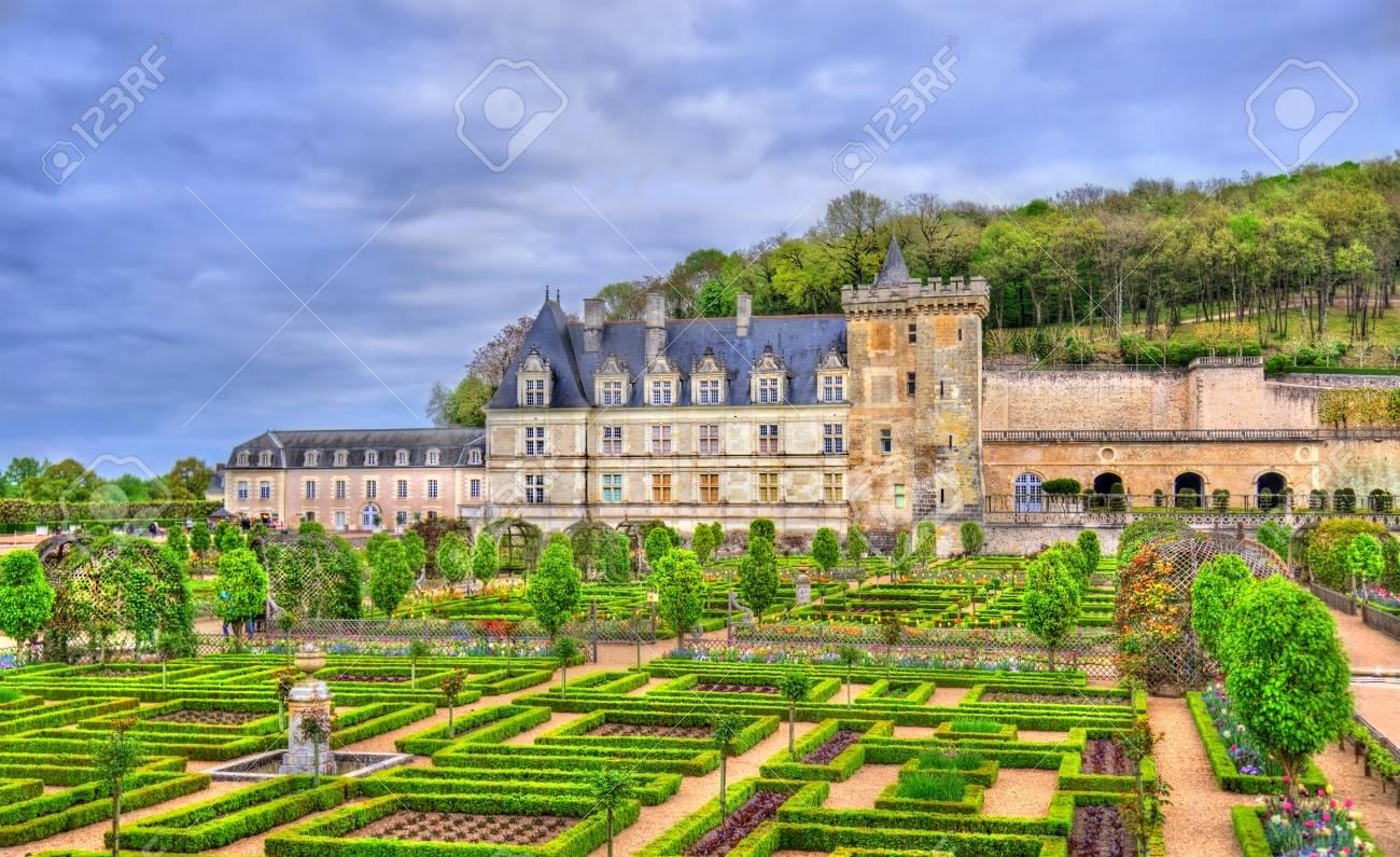 Chateau de Villandry, a castle in the Loire Valley of France - 84981508