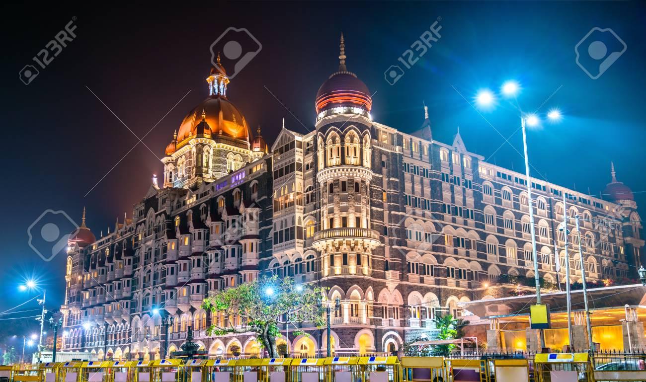 Taj Mahal Palace, a historic builging in Mumbai. Built in 1903 - 96879479