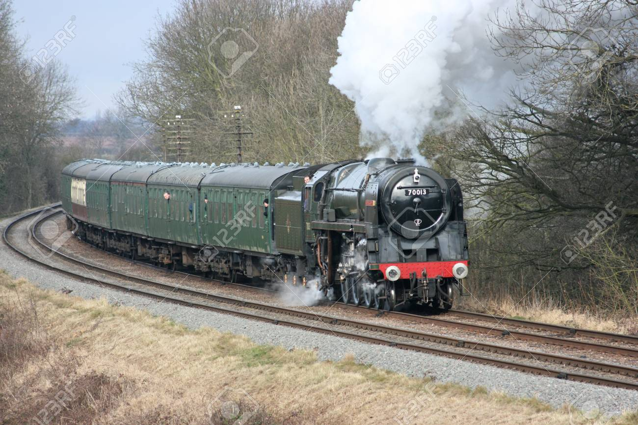 Britannia Steam Loco number 70013 Oliver Cromwell at the Great