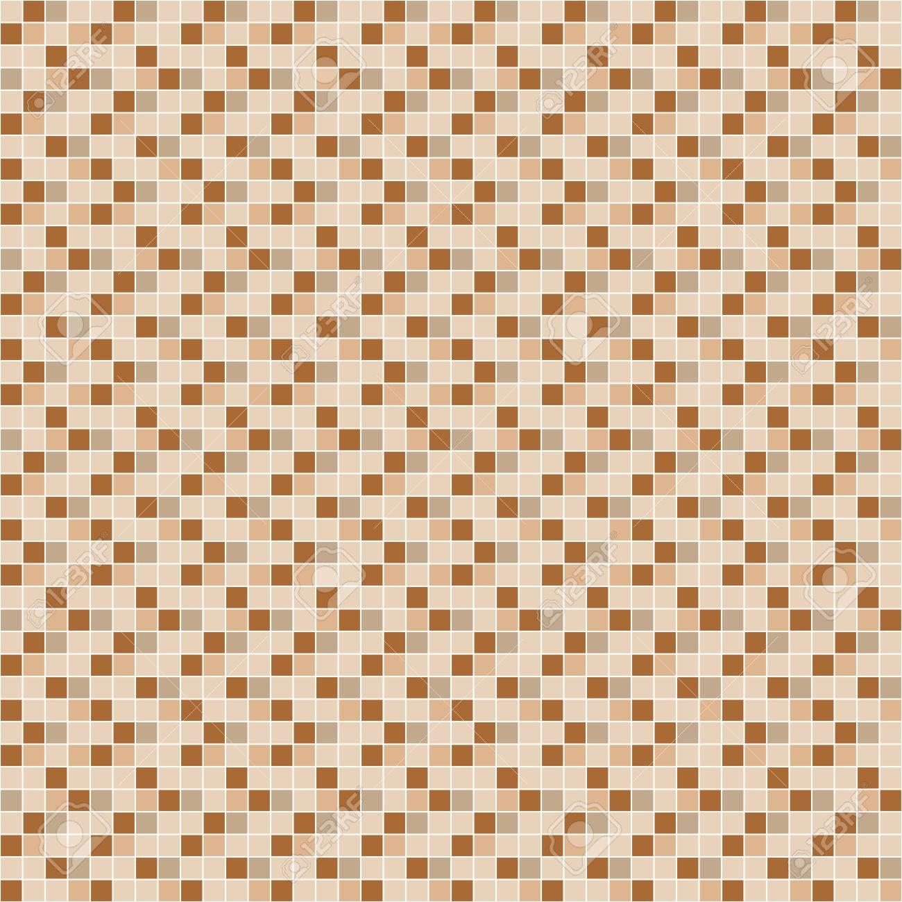 Beige Und Braun Fliesen Mosaik Vektor Nahtlose Muster Design Fur
