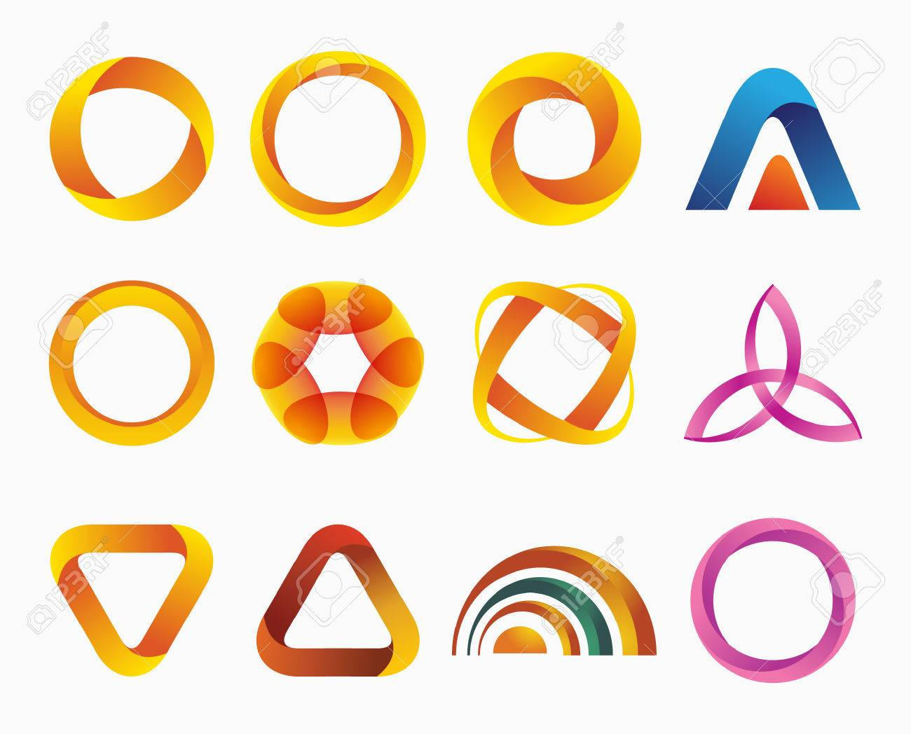Set of templates gradient logos vector illustration symbols set of templates gradient logos vector illustration symbols for your design three biocorpaavc Images