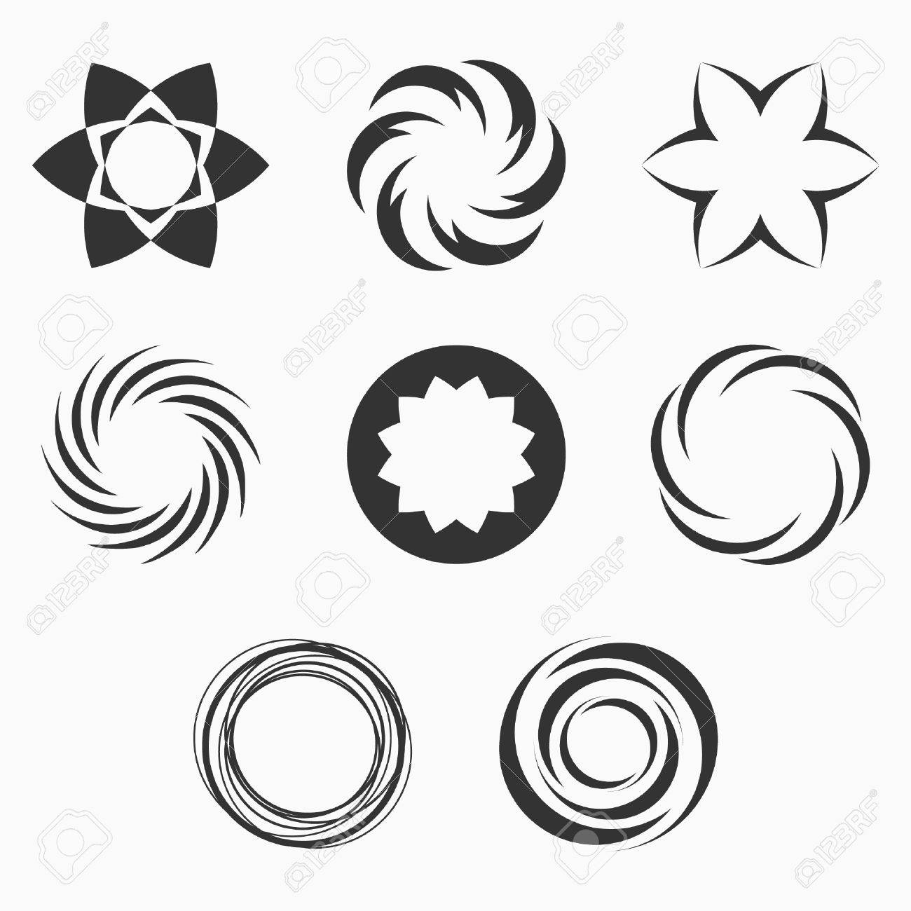 Symbols for light dolgular abstract geometric shapes symbols for your design symmetric biocorpaavc