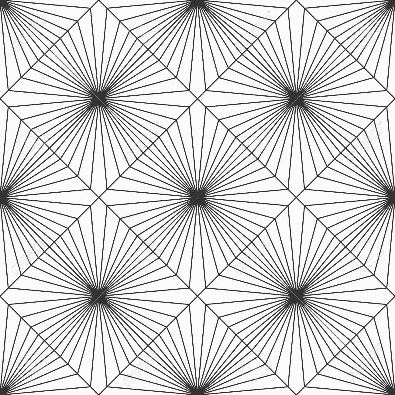 Abstract Geometric Pattern Seamless Pattern Striped Rhombuses