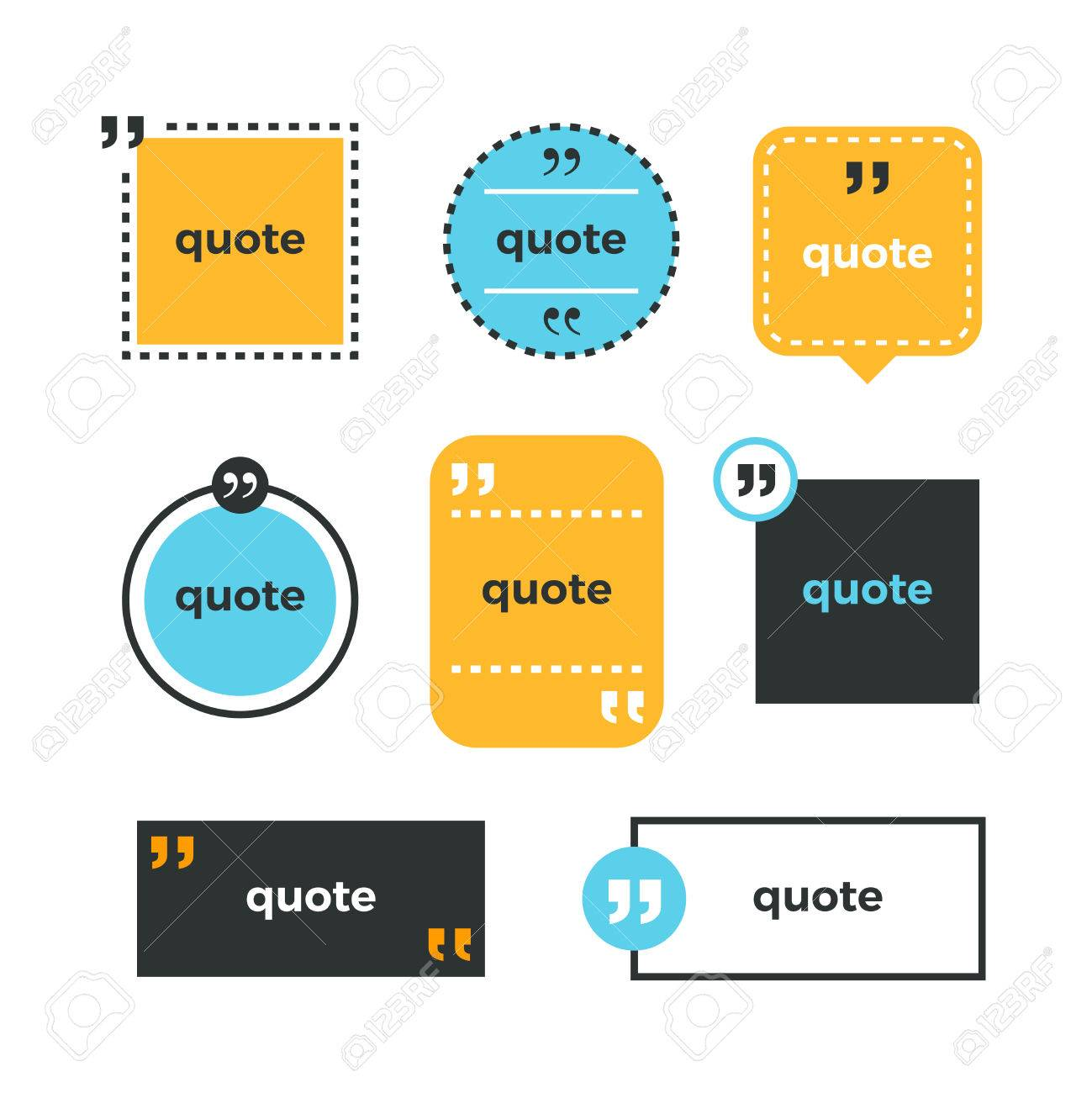 quotes set quote copyspace template quote bubble business