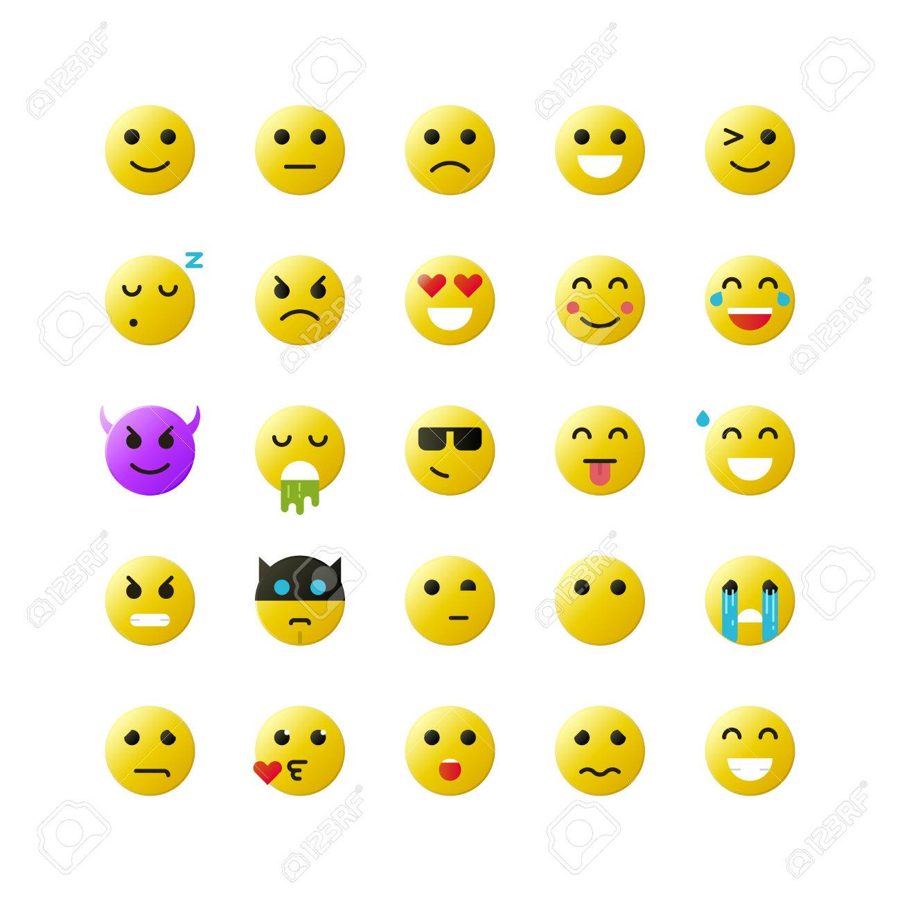 Set of yellow emoticons on white background vector emoticons set of yellow emoticons on white background vector emoticons illustration emoticons vector set buycottarizona Images