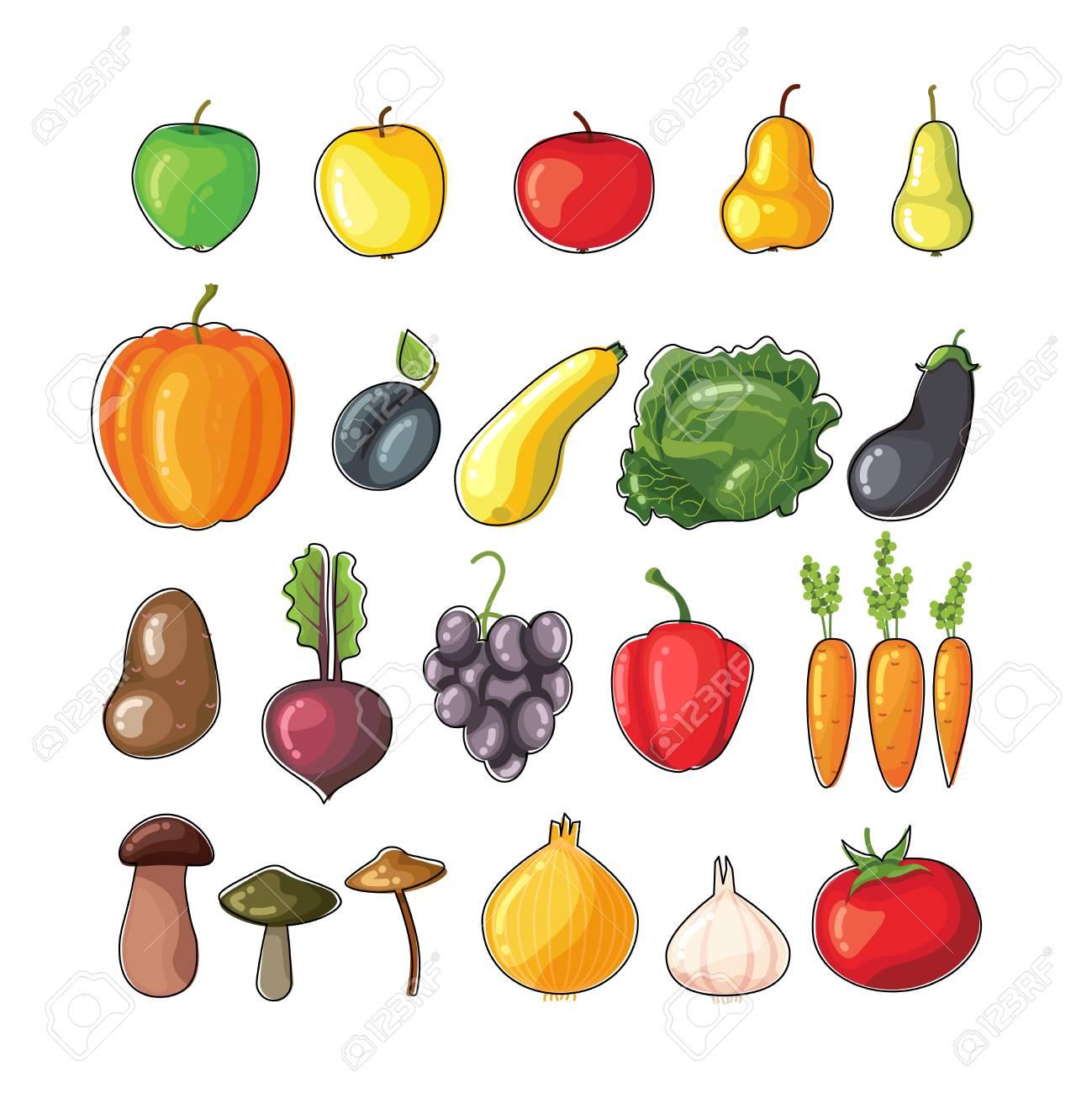 Ziemlich Bilder Von Obst Und Gemüse Zum Färben Fotos - Druckbare ...