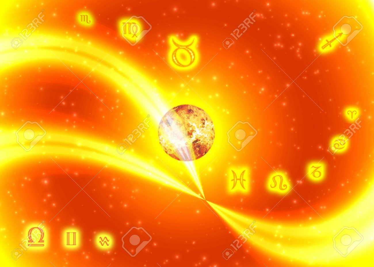 Sunny symbols zodiac Stock Photo - 391949