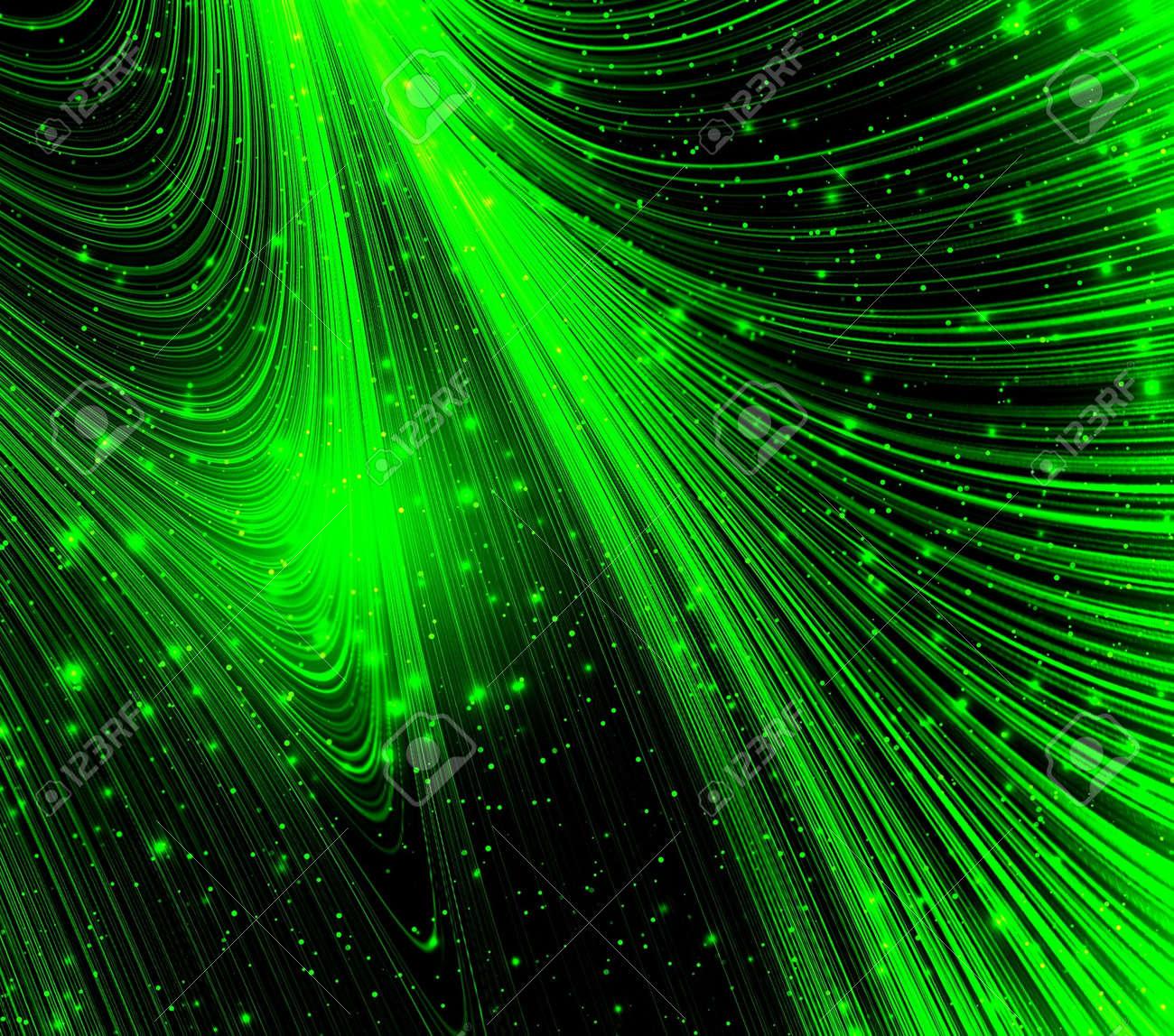Neon Green Light Stock Photo
