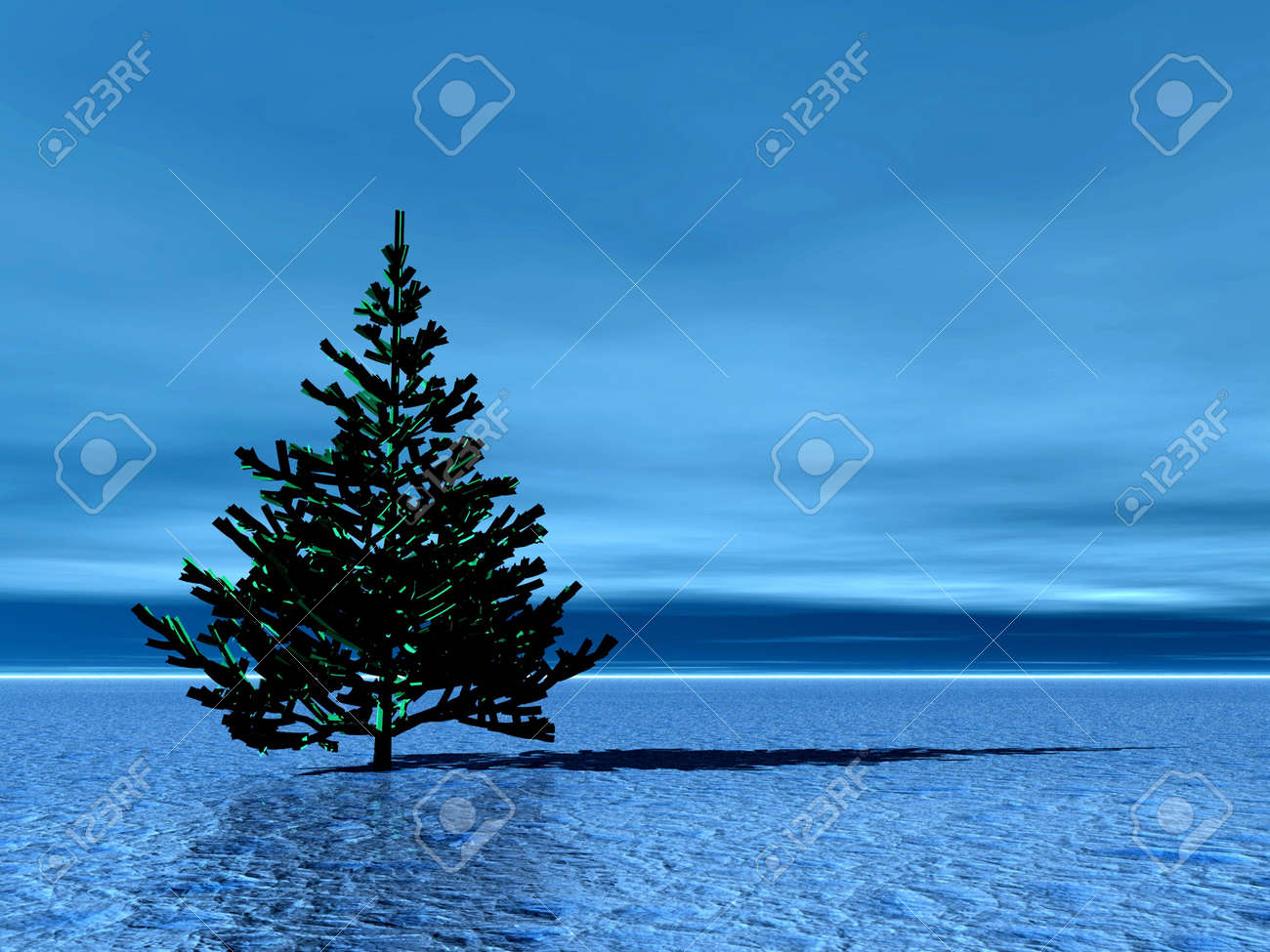 Lonely Christmas.Stock Illustration