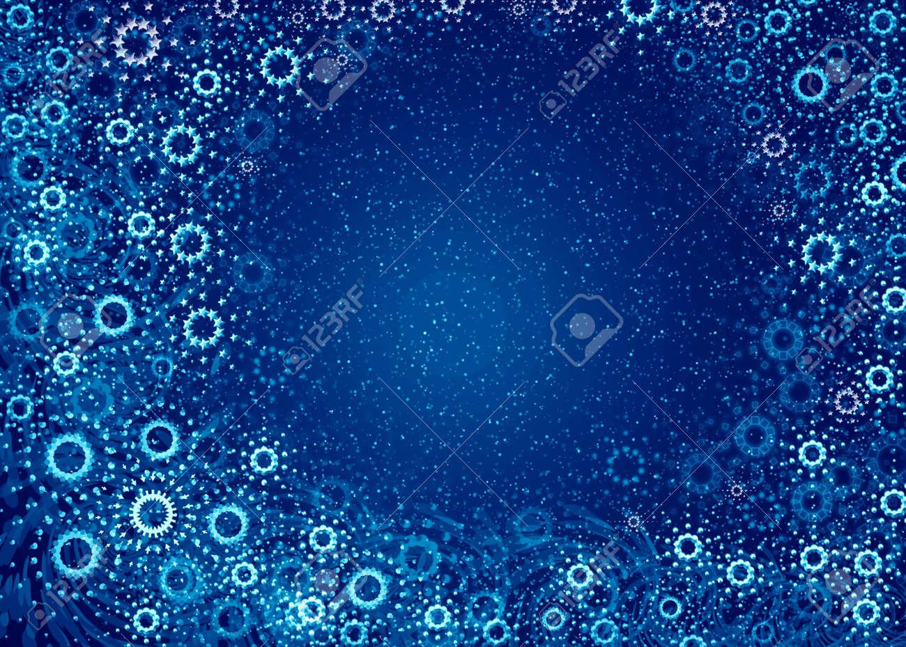 Christmas background. Blue snowflakes Stock Photo - 623549