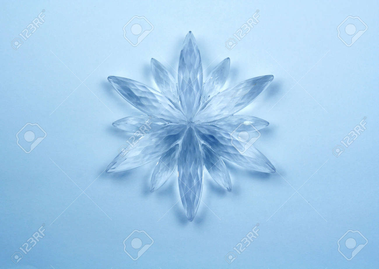 Christmas decoration - Crystal snowflake Stock Photo - 642045