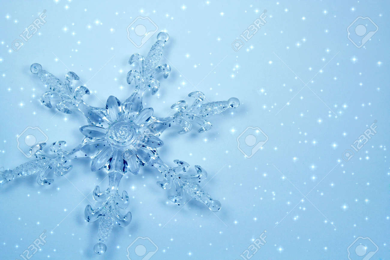 Crystal snowflake . Background for card Stock Photo - 660520