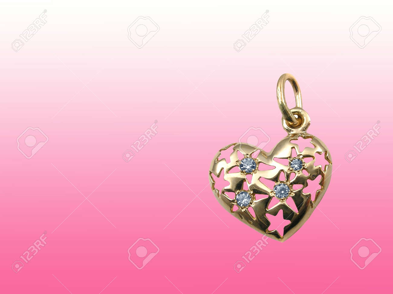 Valentines card with jewelry heart Stock Photo - 725240