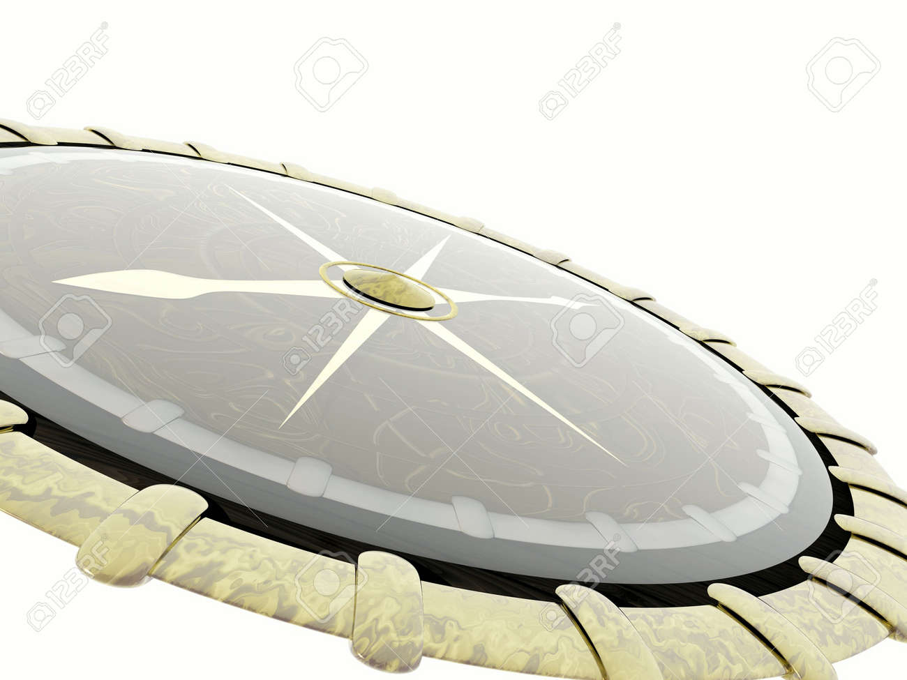 Compass. 3D illustration Stock Illustration - 1230400