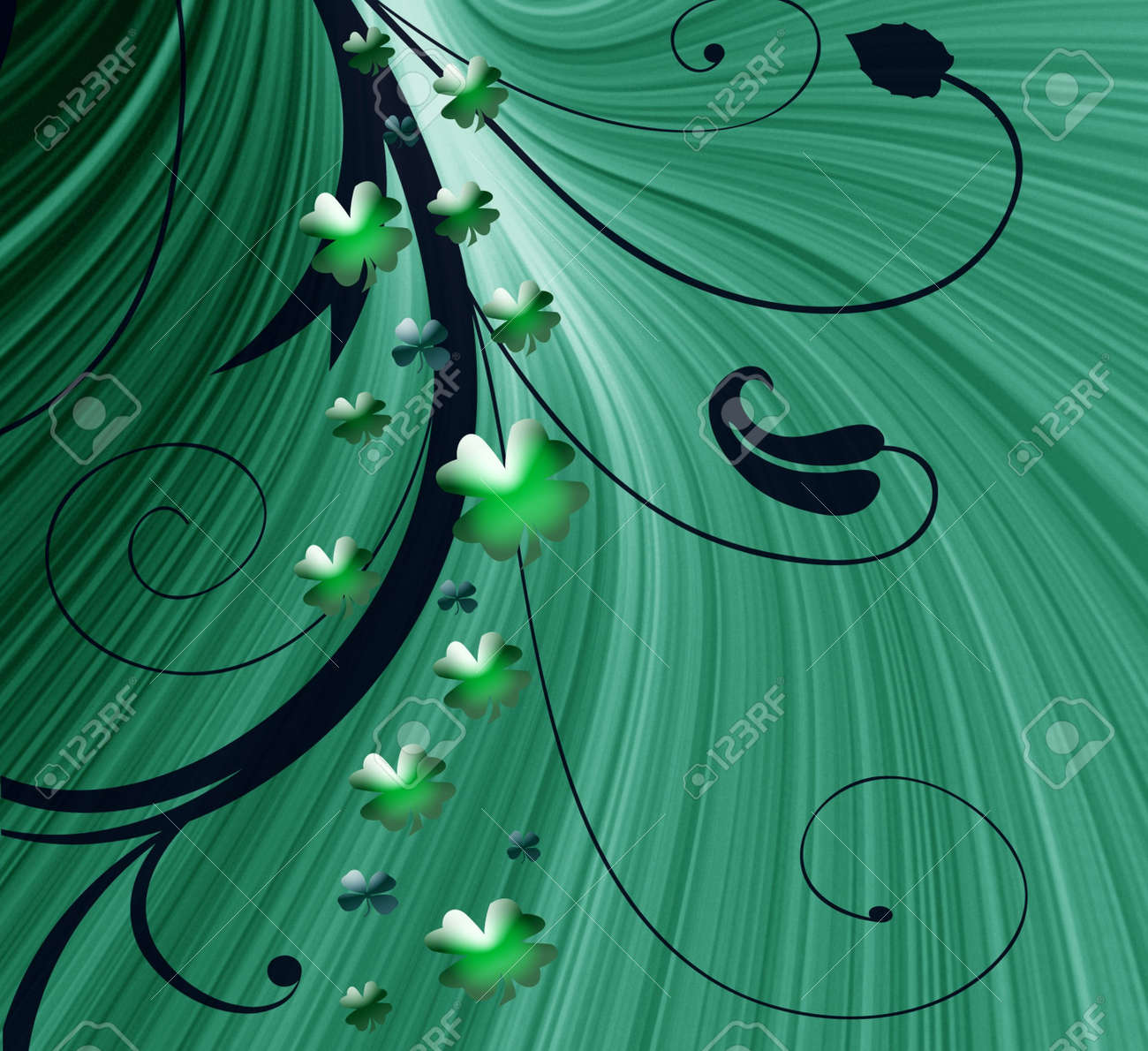 Abstract on theme holiday St.Patrick Stock Photo - 2615192