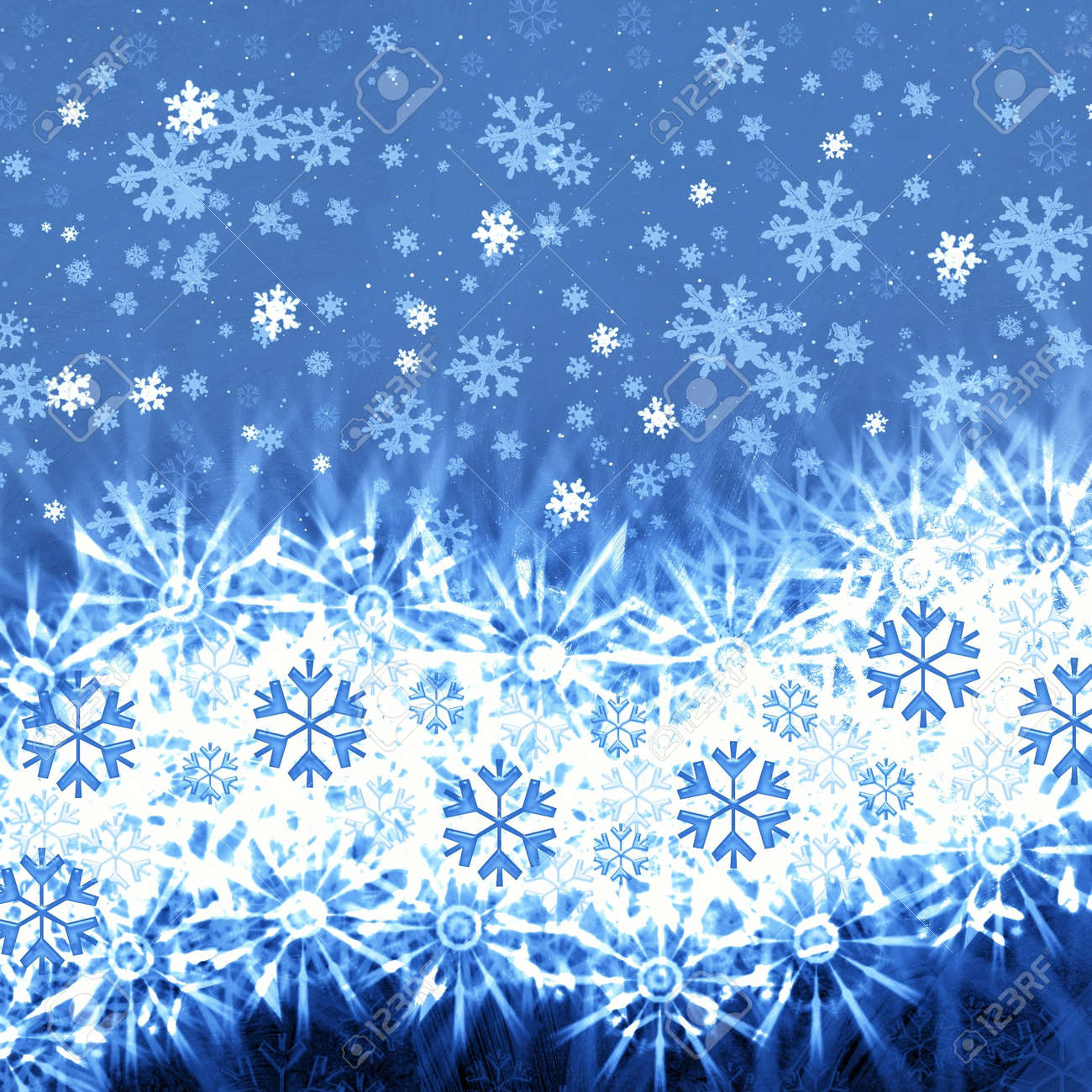 Frosty abstraction background with snowflakes Stock Photo - 3827114