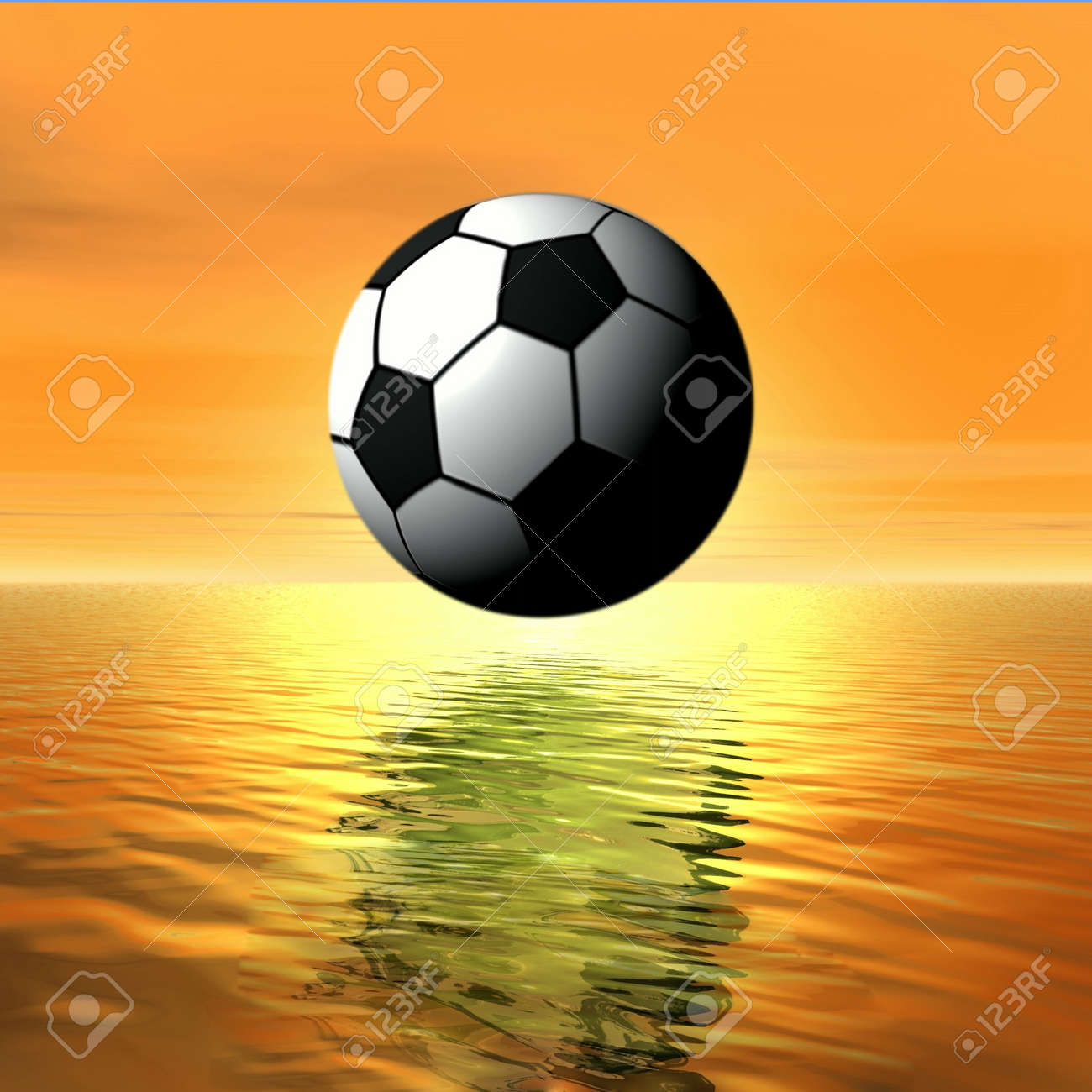Landscape with football Stock Photo - 4460407