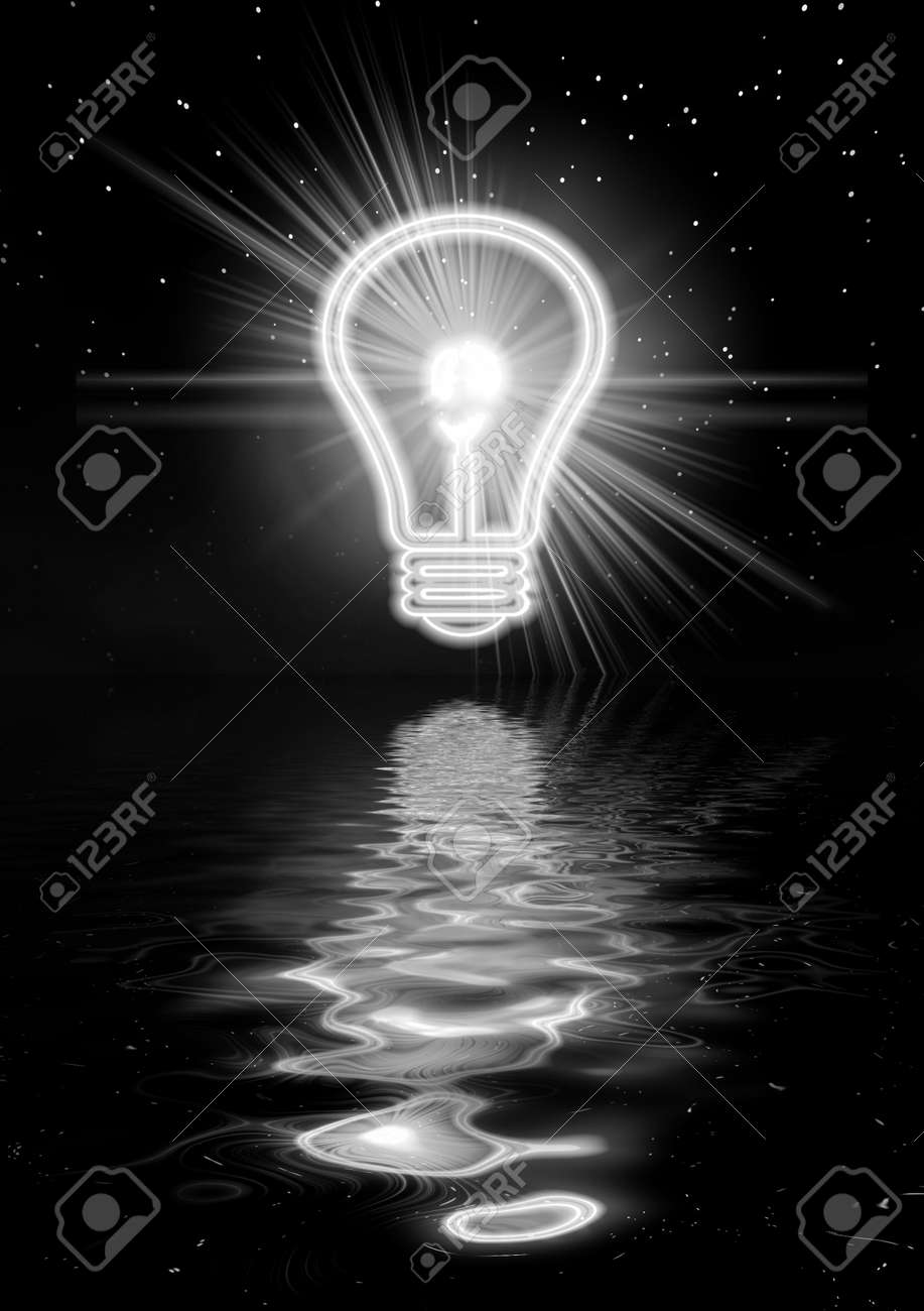 Night picture with electric light. Abstraction illustration for design artworks Stock Illustration - 5747277
