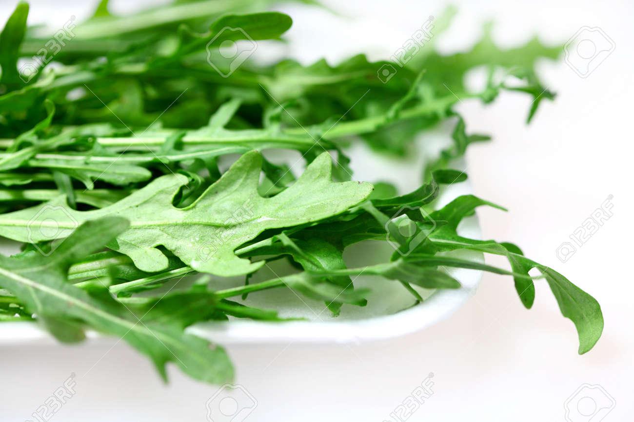 Green Leaves Of Rocket For Salad Rucola Arrugula Stock Photo 6709036