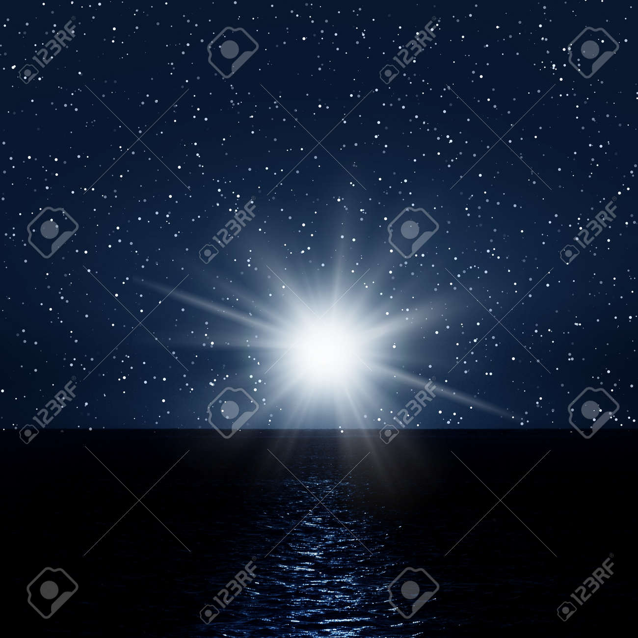 Night picture with sea and sky Stock Photo - 6934786