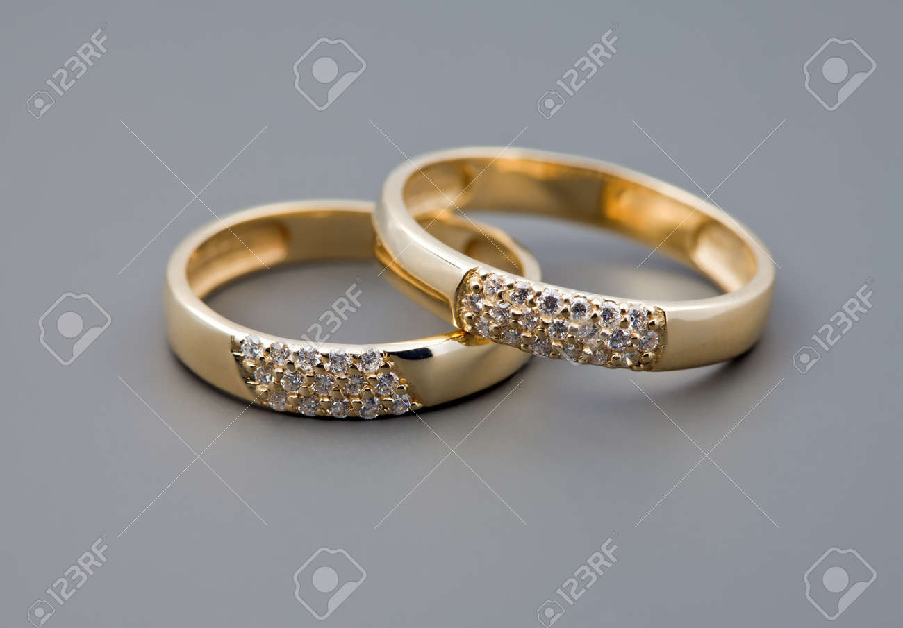 celebratory accessories two rings for wedding day and card stock photo 8756060 - Rings For Wedding