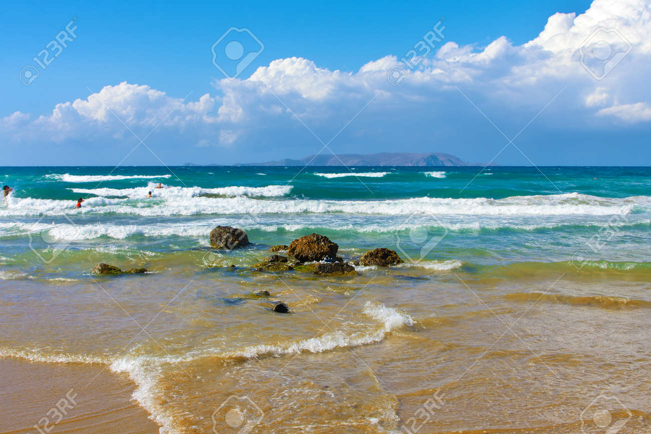 Landscape, sea on a Crete, the Greek island Stock Photo - 9626016