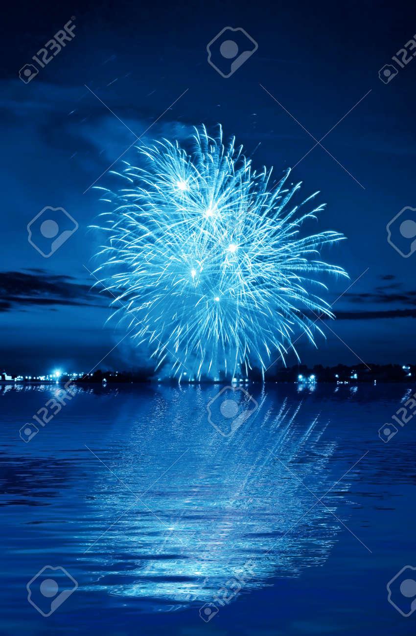 firework in a night sky Stock Photo - 11218824