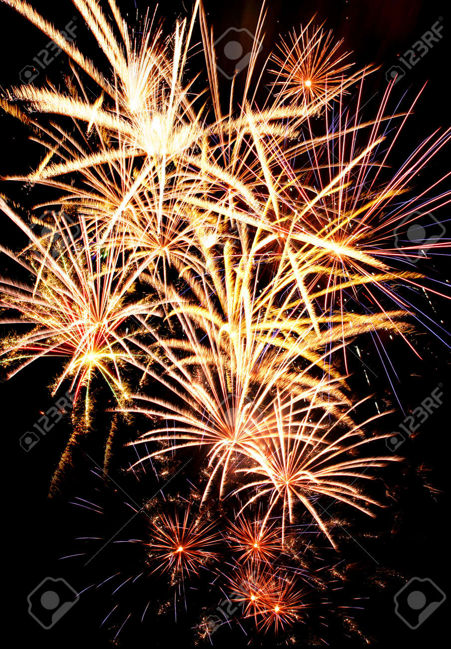 Colorful firework in background of night sky Stock Photo - 13813068