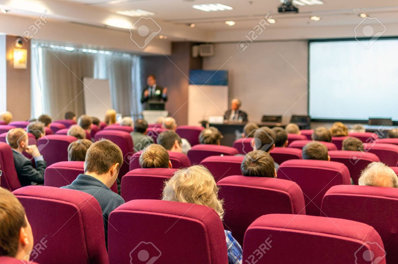 people sitting rear at the business conference Stock Photo - 28390444