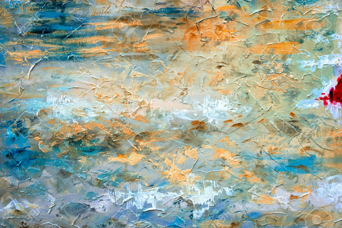 Abstract Art Background Oil Painting On Canvas Color Texture