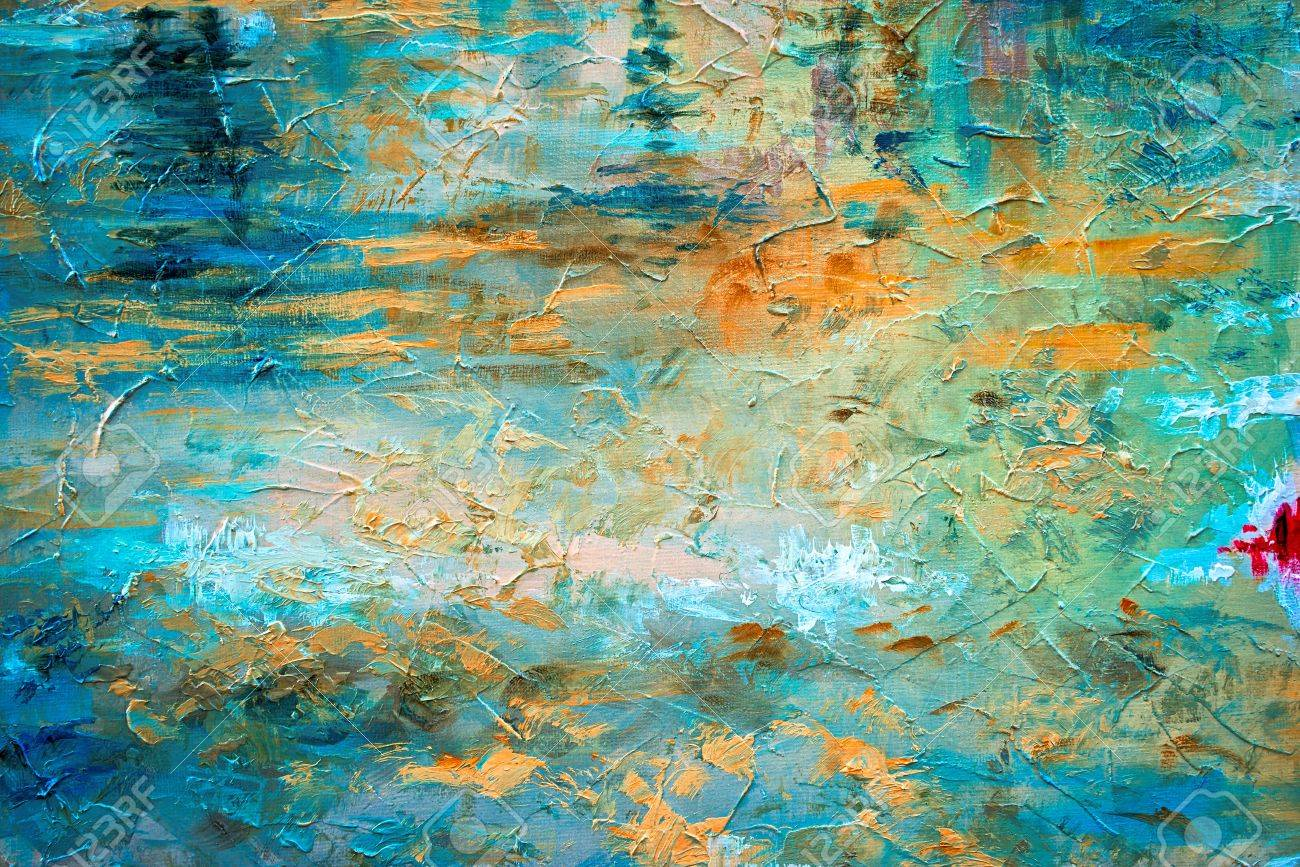 abstract oil paint texture on canvas - 62153028