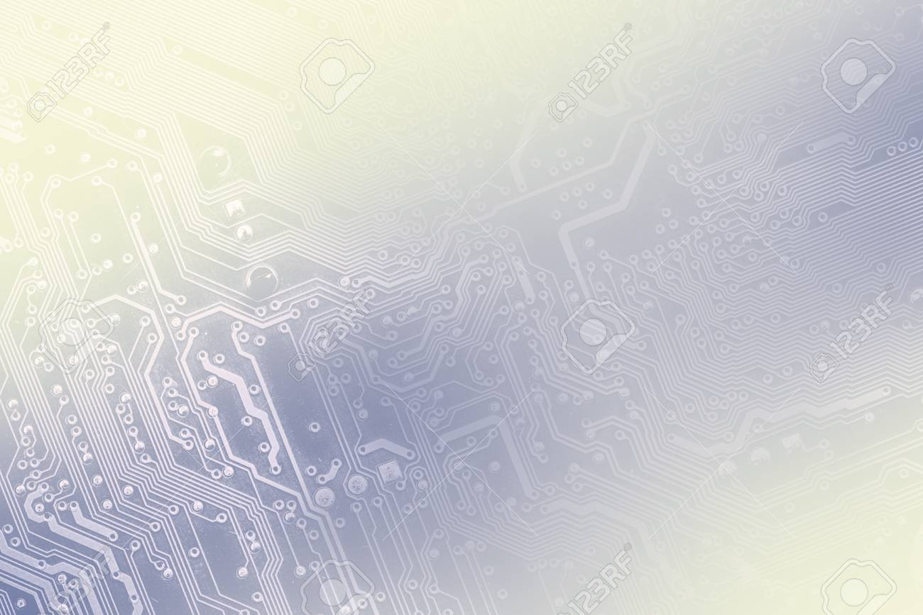 Pcb Board Integrated Circuit Pc Parts Motherboard Chip Processor Circuits Used As Background Royalty Free Stock Photos Texture Backdrop Toned Into Light Blue