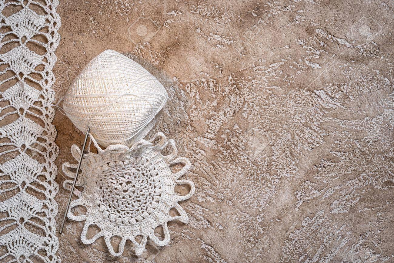 Ganchillo Pa Ito Blanco Los Encajes De Ganchillo Como Marco Copiar  -> Tapetes Para Sala Tejidos A Crochet