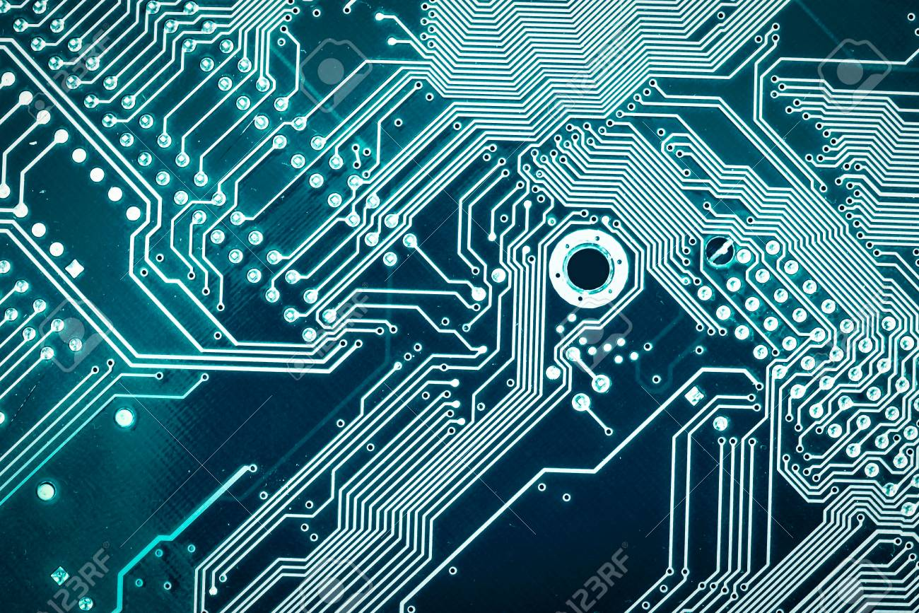 Motherboard Digital Chip Tech Science Background Circuit Board Pictures Silhouette Close Up Top View