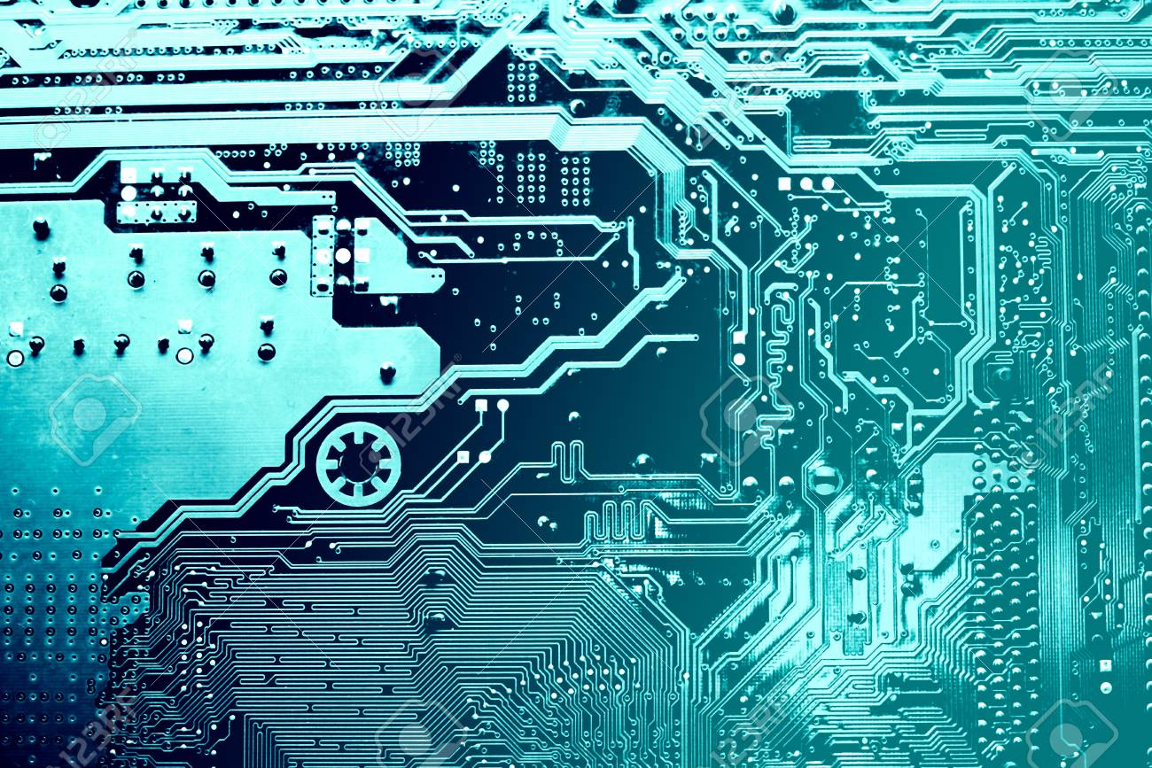 Circuit Board Electronic Computer Hardware Technology Motherboard With Electronics Components Royalty Free Stock Digital Chip Tech Science Background