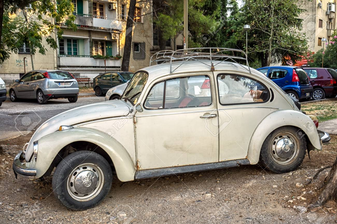 Podgorica Montenegro August 26 2017 Old White Volkswagen Beetle Stock Photo Picture And Royalty Free Image Image 84841069