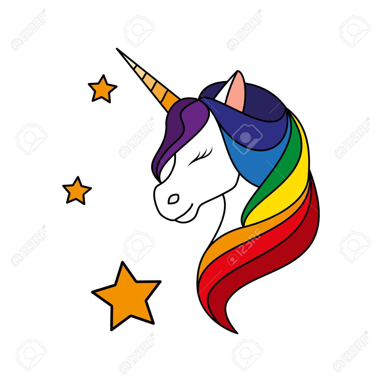 unicorn vector illustration royalty free cliparts vectors and rh 123rf com free vector unicorn rainbow free vector unicorn svg