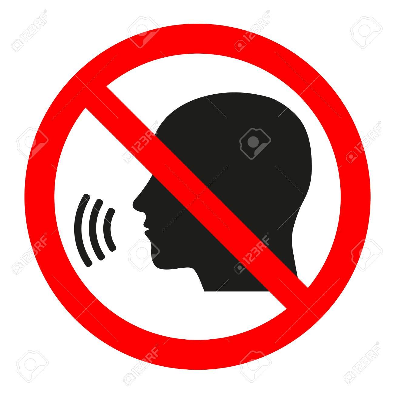 Sign forbidden conversation on a white background. - 92257704