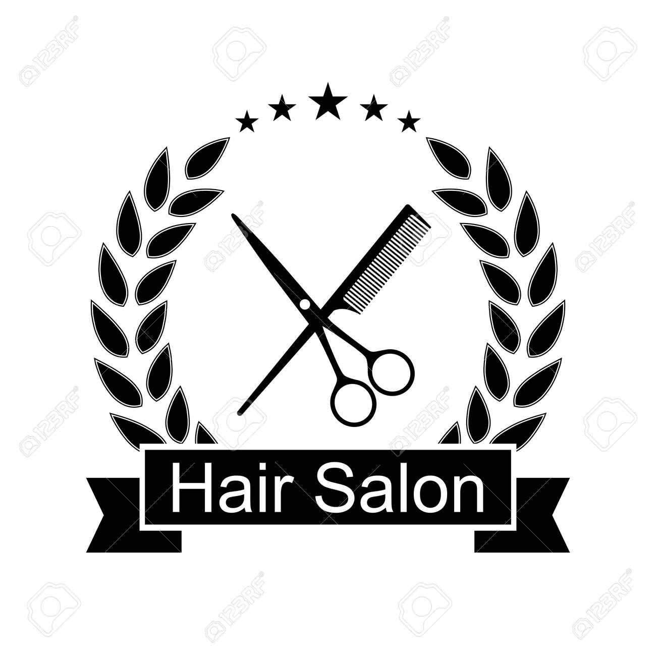 Hair Salon Logo Design Illustration On White Background Royalty Free Cliparts Vectors And Stock Illustration Image 160332931