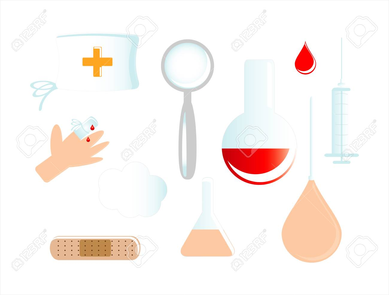 medical icon on white background Stock Vector - 10745790