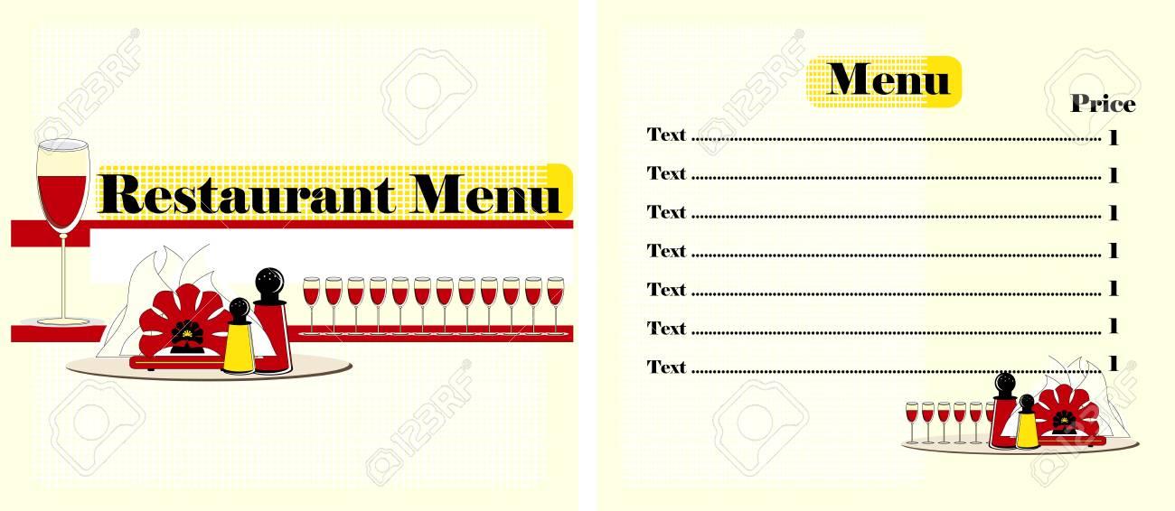 menu restaurant colored  design Stock Vector - 12825445