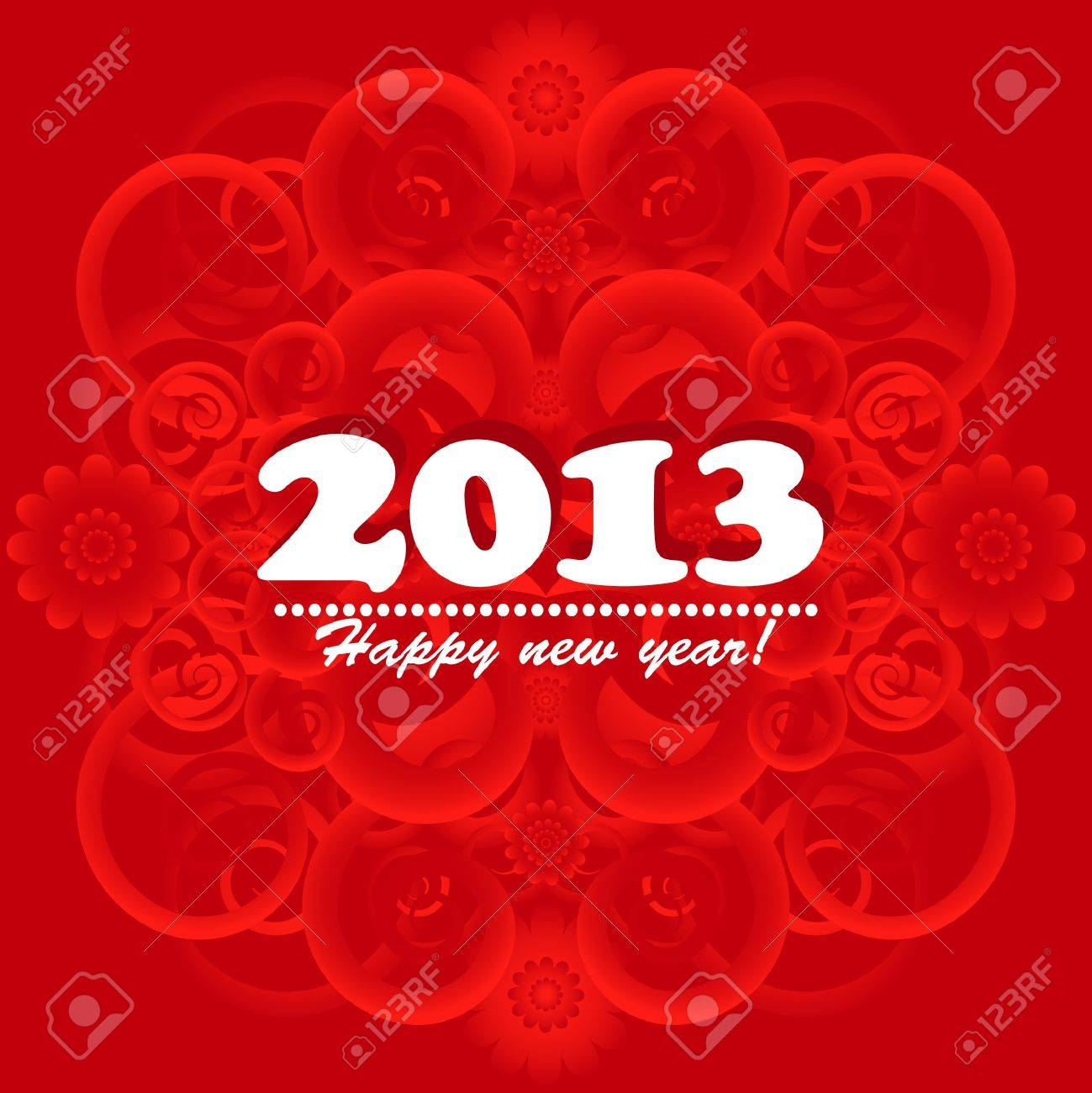 new year card 2013 Stock Vector - 15363496