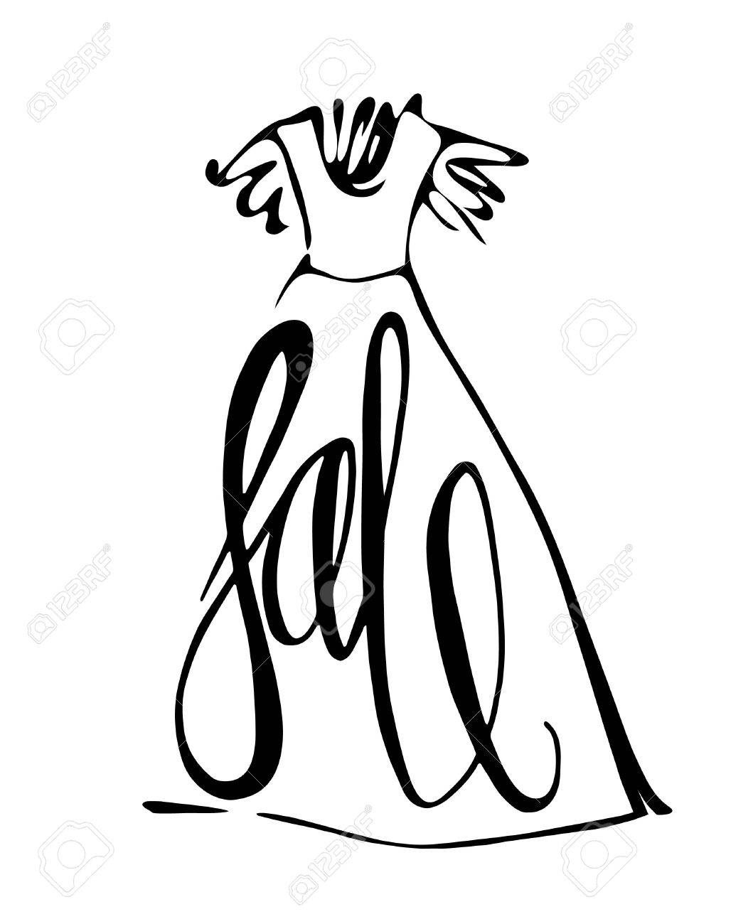 Fashion Design Vector Illustration Hand Drawn Woman Dress Isolated Royalty Free Cliparts Vectors And Stock Illustration Image 52506922